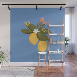 Lemon tree throw pillow Wall Mural