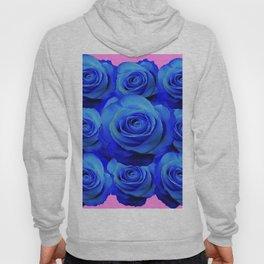 BLUE ROSE GARDEN & PINK PATTERN ART Hoody