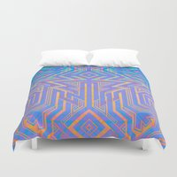 tron Duvet Covers featuring Tron-ish by Roberlan Borges