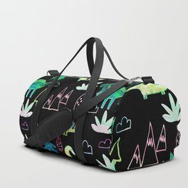 Dino Fun land Black Duffle Bag