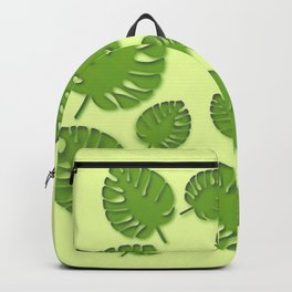 tropical leafs in spring Backpack