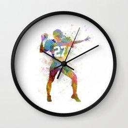 quarterback american throwing football player man Wall Clock