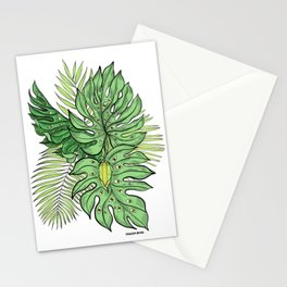 Monstera Friends Stationery Cards