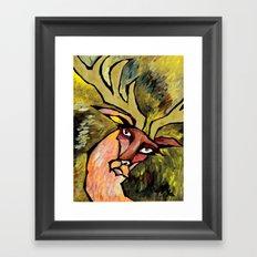 Deer at High Speeds Framed Art Print