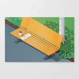 Down Time: Sunday Bench Canvas Print