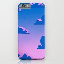Sunset sky Lo-Fi kawaii purple pink iPhone Case