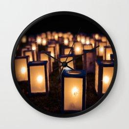 Christmas Luminaries Wall Clock