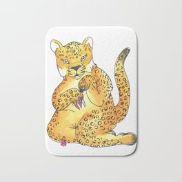 jaguar painting nails transparent Bath Mat