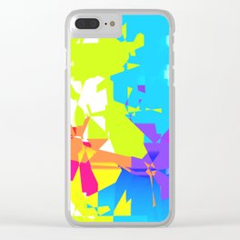 Geometric Shatter Clear iPhone Case