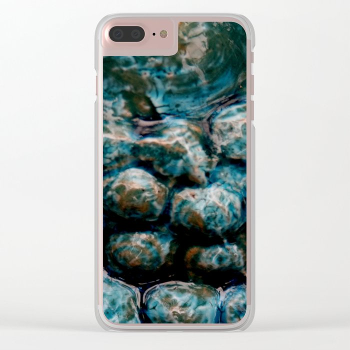 Blue bowls Clear iPhone Case