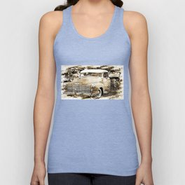 1950's Vintage Chevy Chevrolet Pick up Truck Unisex Tank Top