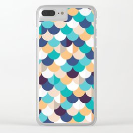 Autumn Mermaid Scales Clear iPhone Case