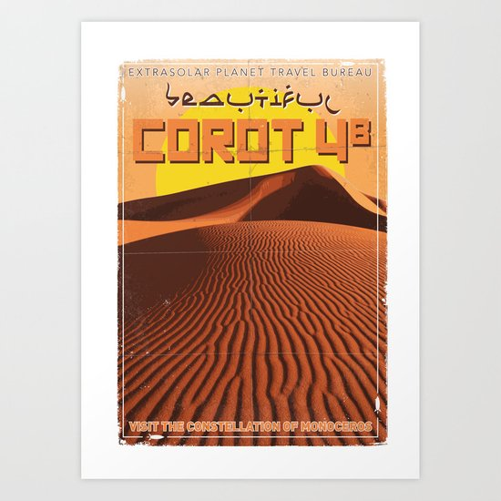 My Exoplanetary Travel Poster: COROT 4b Art Print