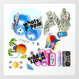 Whats Poppin Art Print