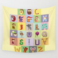 diablo Wall Tapestries featuring Abc by Maria Jose Da Luz
