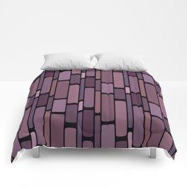 Retro Block Mauve Eggplant Comforters