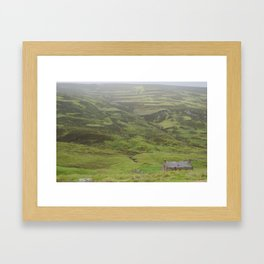 A Lone Bothy in the Highlands Framed Art Print