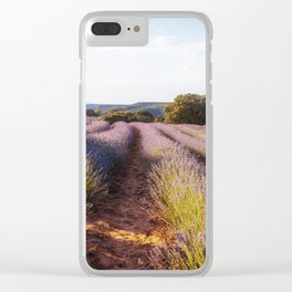Lavender Fields at Sunset Clear iPhone Case