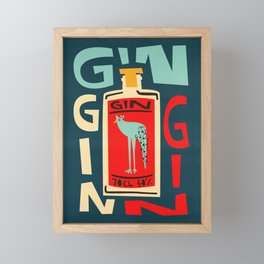 Gin Gin Gin Framed Mini Art Print