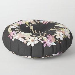 """My Favorite Color is You."" Lavender Wreath Floor Pillow"