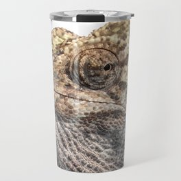 Chameleon With Sinister Facial Expression Isolated Travel Mug