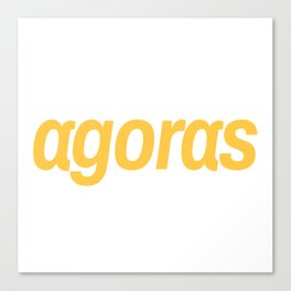 Agoras cryptocurrency Canvas Print