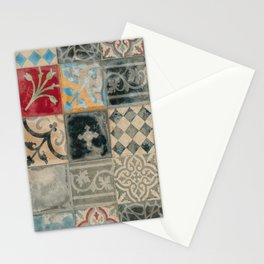 Moroccan vintage multicolor tiles by LikaRamati Stationery Cards