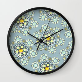 Bunches of Yellow flowers Wall Clock