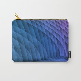 Geometric Path Blue-Pink Carry-All Pouch