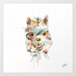 + Watercolor Alpaca + Art Print