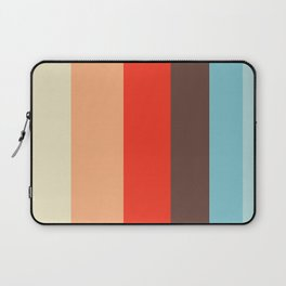 Pastel Blue & Red Stripes Laptop Sleeve
