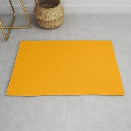 Solid Color Orange Rug