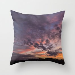 The Sunsets Glow Throw Pillow