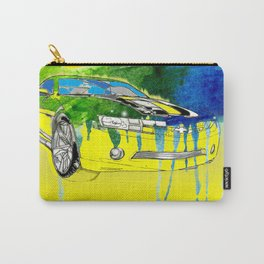 Yellow Cavarro car watercolor Carry-All Pouch