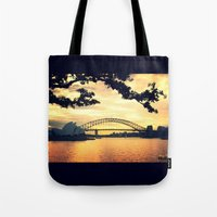 sydney Tote Bags featuring Sydney by MrsBurnsy