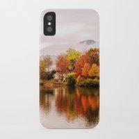 north carolina iPhone & iPod Cases featuring Lake Junaluska, North Carolina by Mary Timman