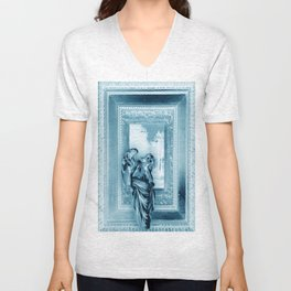 Angel of Bristol (Blue - Inverted) Unisex V-Neck