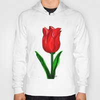 tulip Hoodies featuring Tulip by sladja