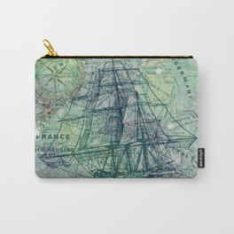 Vintage Clipper Ship Carry-All Pouch