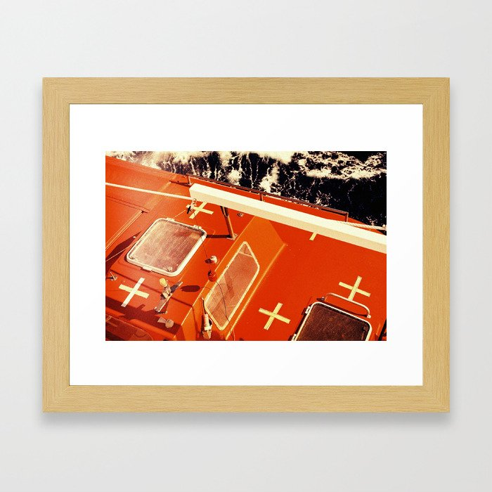 Cross Sea Framed Art Print