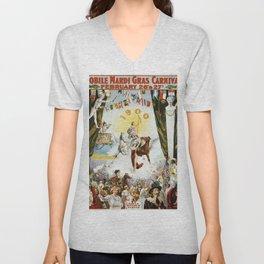 Vintage poster - Mobile Mardi Gras Unisex V-Neck