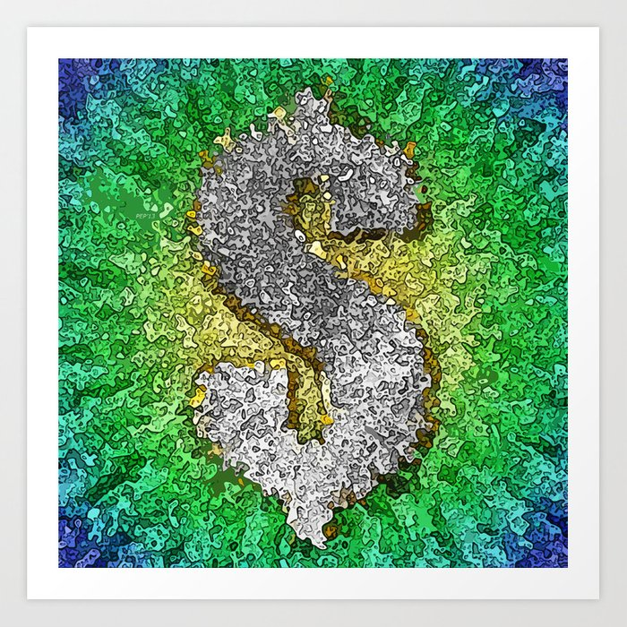 Dollar Sign Pop Art Art Print