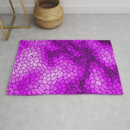 Stained glass texture of snake violet leather with bright heat spots. Rug