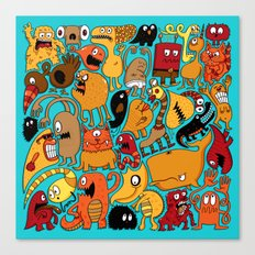 Creature Cluster Canvas Print