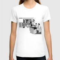 the office T-shirts featuring OFFICE MEETING by Sofia Youshi