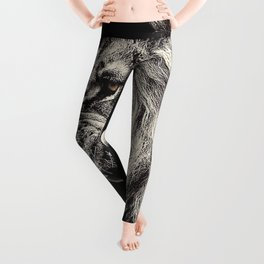 Angry Male Lion Leggings