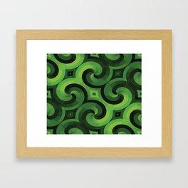 GREEN WALLPAPER Pop Art Framed Art Print