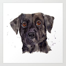 LABRADOR painting, dog painting, watercolor dogs, Black Lab art Art Print