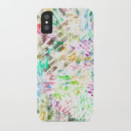 watercolour line iPhone Case
