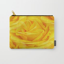 Modern Abstract Seamless Yellow Rose Petals Carry-All Pouch